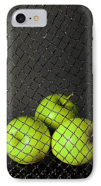 IPhone Case featuring the photograph Three Apples by Viktor Savchenko