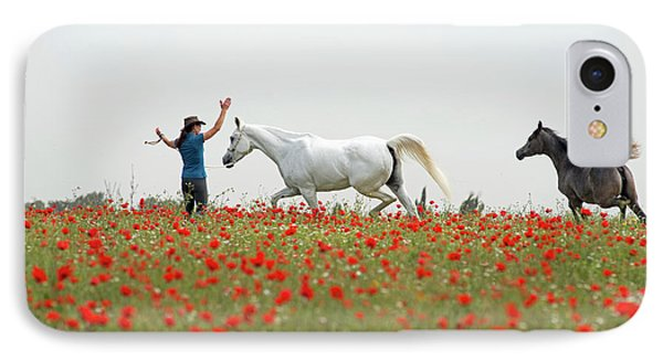 Three At The Poppies' Field IPhone 7 Case by Dubi Roman