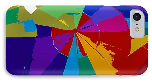 Three Beach Umbrellas Phone Case by David Lee Thompson