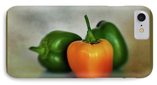IPhone Case featuring the photograph Three Bell Peppers by David and Carol Kelly