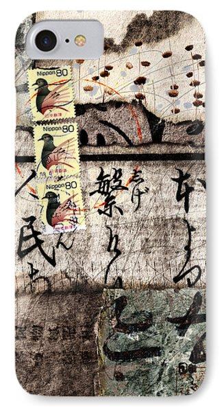 Three Bird Night Collage IPhone 7 Case by Carol Leigh