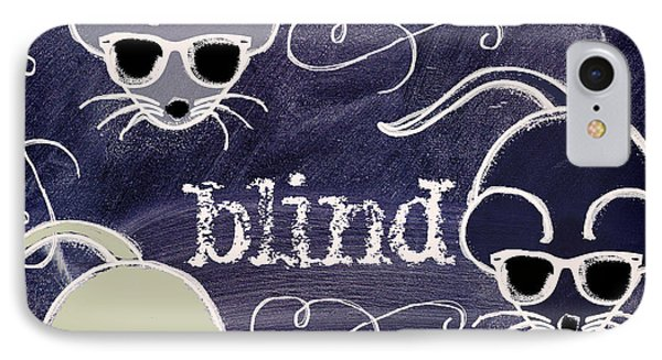 Three Blind Mice Children Chalk Art IPhone Case by Mindy Sommers