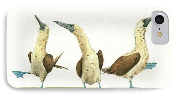 Three Blue Footed Boobies IPhone Case