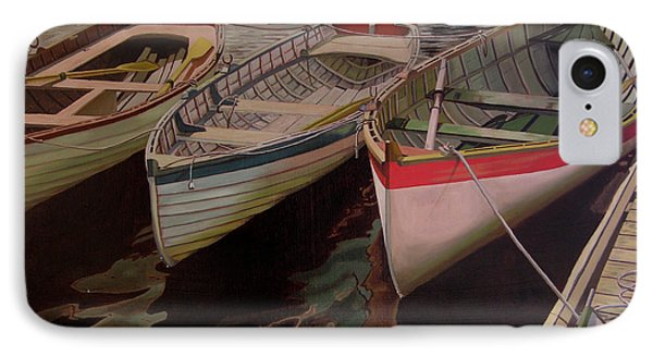 Three Boats IPhone Case by Thu Nguyen