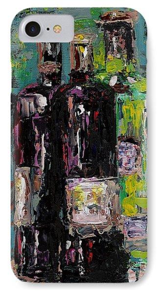 Three Bottles Of Wine IPhone Case by Frances Marino