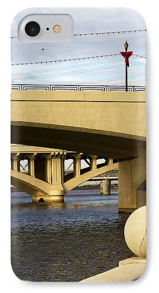 IPhone Case featuring the photograph Three Bridges by Phyllis Denton