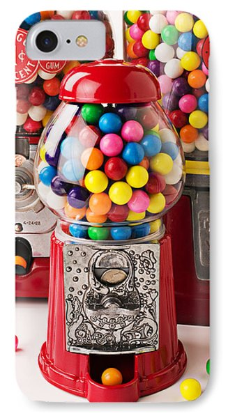 Three Bubble Gum Machines Phone Case by Garry Gay