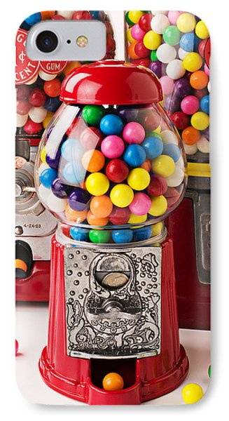 Three Bubble Gum Machines IPhone Case by Garry Gay