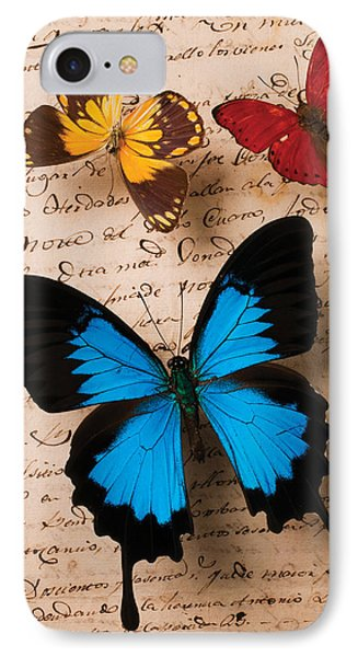 Three Butterflies Phone Case by Garry Gay
