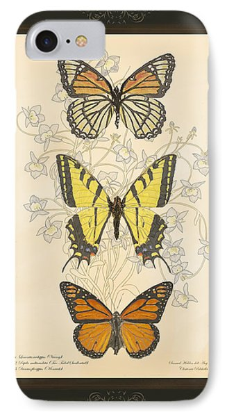 Three Butterflies IPhone Case