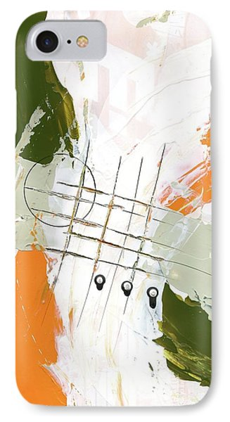 IPhone Case featuring the painting Three Color Palette Orange 3 by Michal Mitak Mahgerefteh