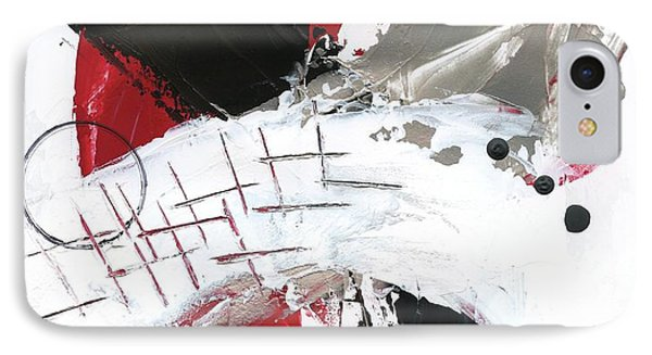 IPhone Case featuring the painting Three Color Palette Red 2 by Michal Mitak Mahgerefteh