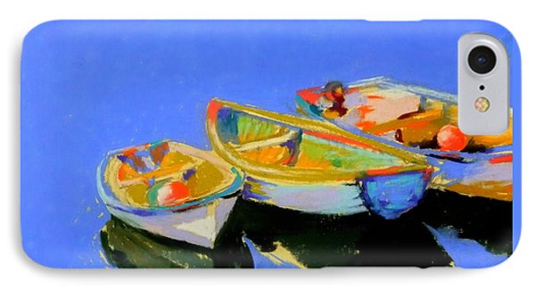 Three Colourful Boats Phone Case by Sue Gardner