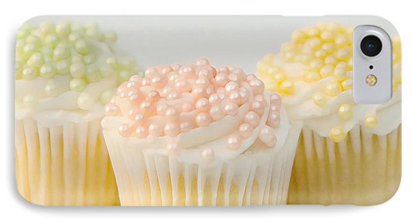 Three Cupcakes IPhone Case by Art Block Collections