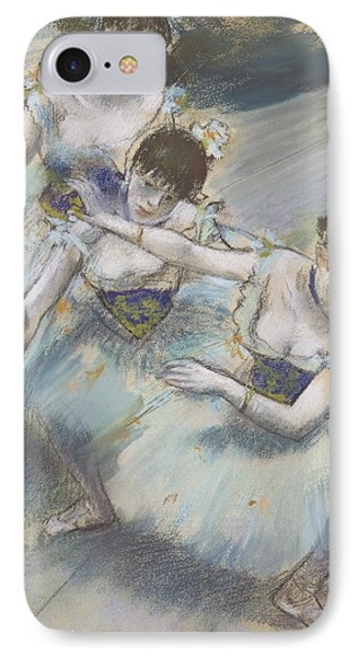 Three Dancers In A Diagonal Line On The Stage IPhone Case
