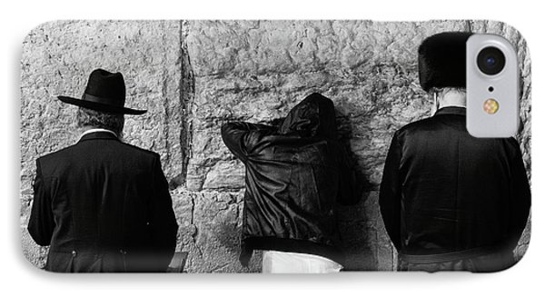 IPhone Case featuring the photograph Three Different Selichot Prayers At The Kotel by Yoel Koskas