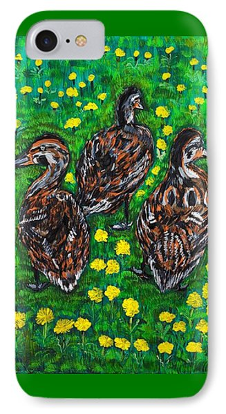 Three Ducklings IPhone Case by Valerie Ornstein
