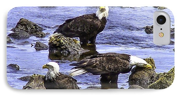 Three Eagles 2 IPhone Case by Larry Kohlruss