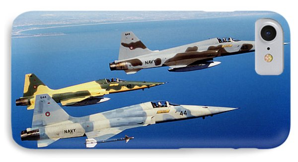 Three F-5e Tiger II Fighter Aircraft IPhone Case by Dave Baranek