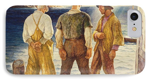 Three Fishermen IPhone Case by Newell Convers Wyeth