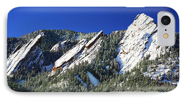 Three Flatirons IPhone Case by Marilyn Hunt