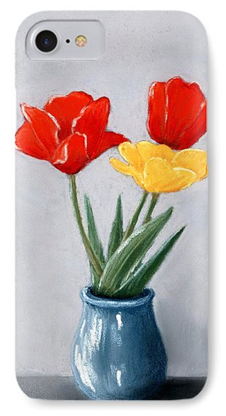 Three Flowers In A Vase IPhone Case