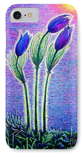 Three Flowers IPhone Case by Viktor Lazarev