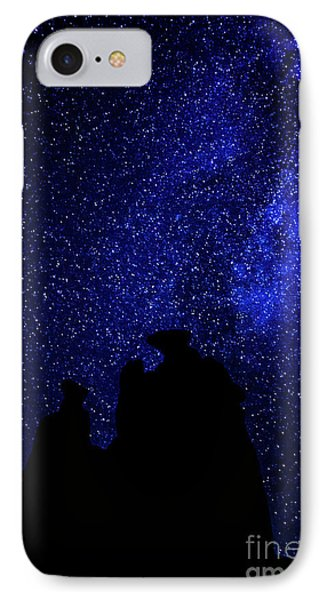 IPhone Case featuring the photograph Three Gossips And The Milky Way - Arches National Park by Gary Whitton