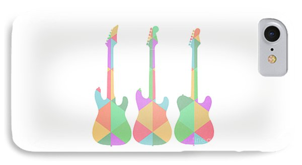 Three Guitars Triangles IPhone Case by Edward Fielding