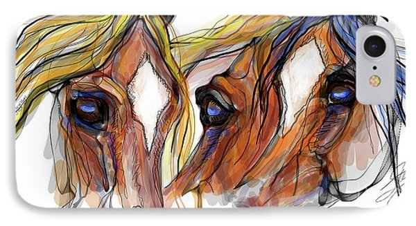 Three Horses Talking IPhone Case