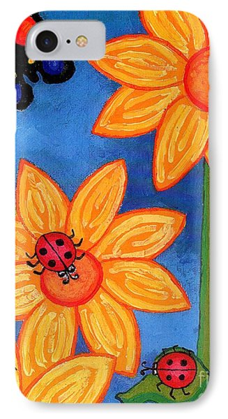 Three Ladybugs And Butterfly IPhone 7 Case