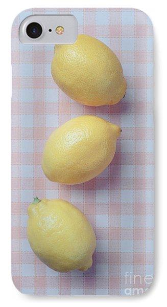 Lemon iPhone 7 Case - Three Lemons by Edward Fielding