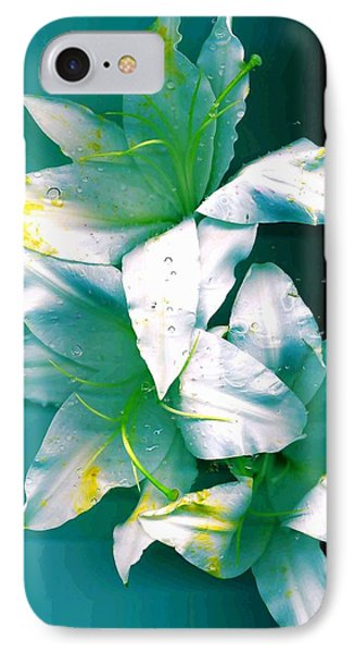 IPhone Case featuring the photograph Three Lilies by Carolyn Repka
