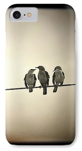 Three Little Birds IPhone Case by Trish Mistric