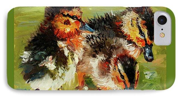 Three Little Ducks IPhone Case by Janet Garcia