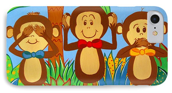 Three Monkeys No Evil IPhone Case