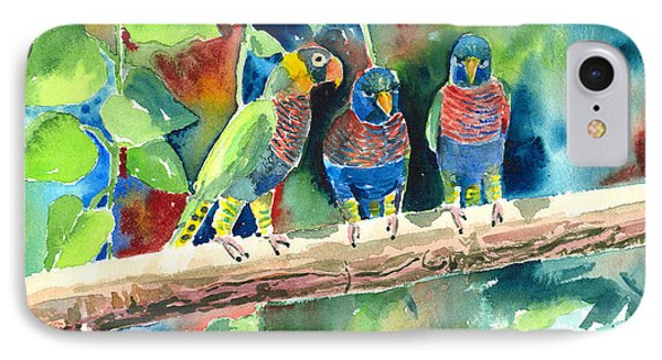 Three On A Branch IPhone Case by Arline Wagner