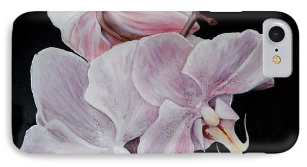 IPhone Case featuring the painting Three Orchids by Sandra Nardone