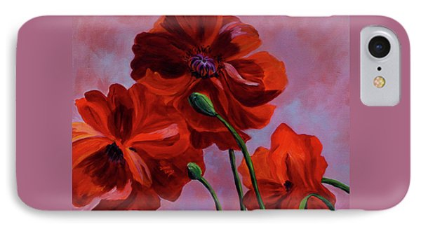 Three Oriental Poppies IPhone Case