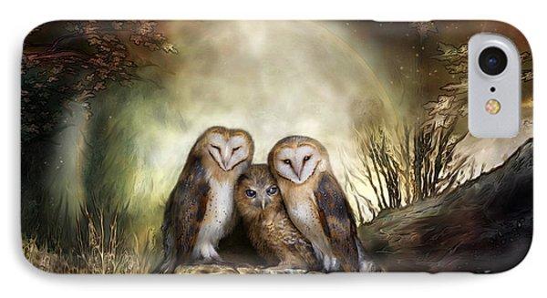 Three Owl Moon Phone Case by Carol Cavalaris