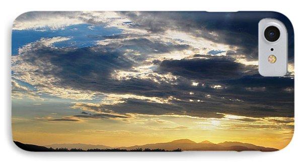 Three Peak Sunset Swirl Skyscape IPhone Case by Matt Harang