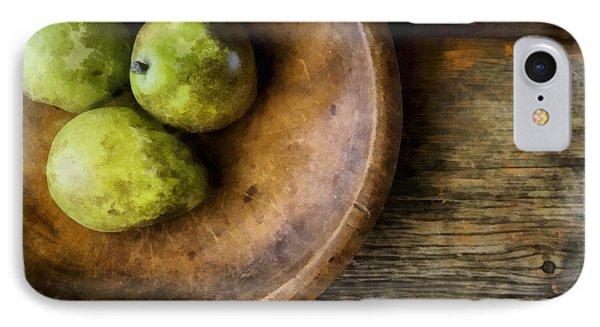 Three Pear Still Life IPhone Case by Edward Fielding