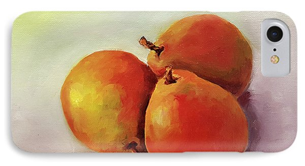 Three Pears IPhone Case by Janet Garcia