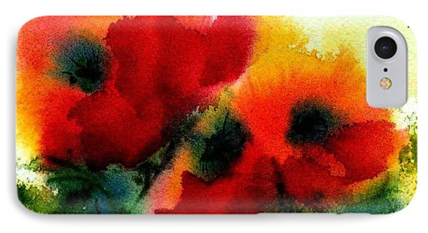 Three Poppies IPhone Case by Anne Duke