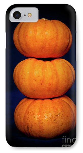 IPhone Case featuring the photograph Three Pumpkins by Yurix Sardinelly