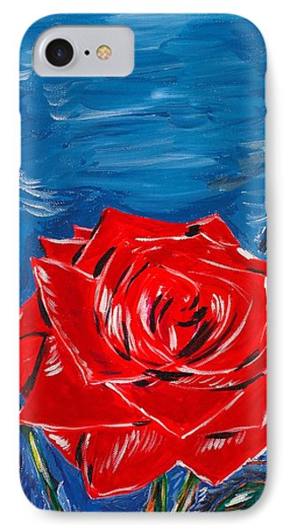 Three Red Roses Four Leaves IPhone Case by Valerie Ornstein