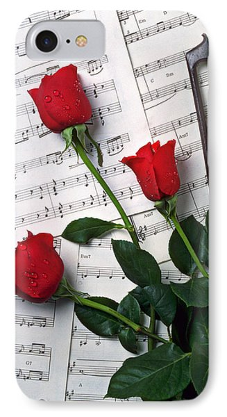 Three Red Roses  IPhone Case by Garry Gay