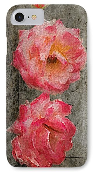 IPhone Case featuring the digital art Three Roses by Dale Stillman