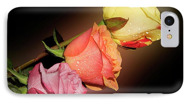 IPhone Case featuring the photograph Three Roses by Elvira Ladocki