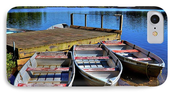 Three Rowboats IPhone 7 Case by David Patterson